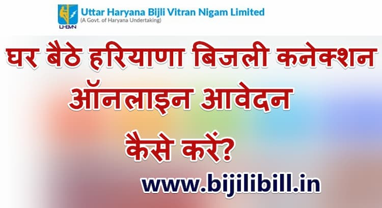 New Hariyana Bijli Connection